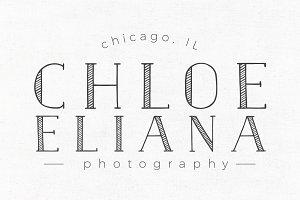 Chloe Eliana Premade Logo Template