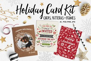 Retro Holiday Card Kit with Bonuses