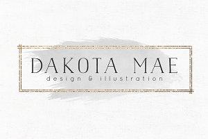 Dakota Mae Premade Logo Template