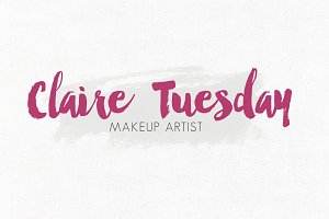 Claire Tuesday Premade Logo Template