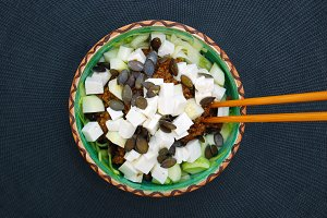 zucchini noodles with goat cheese