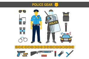 Set of Police gear