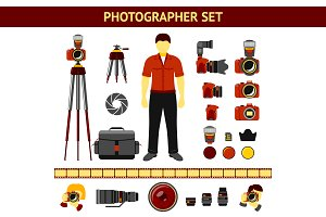 Vector Set of Photographer icons
