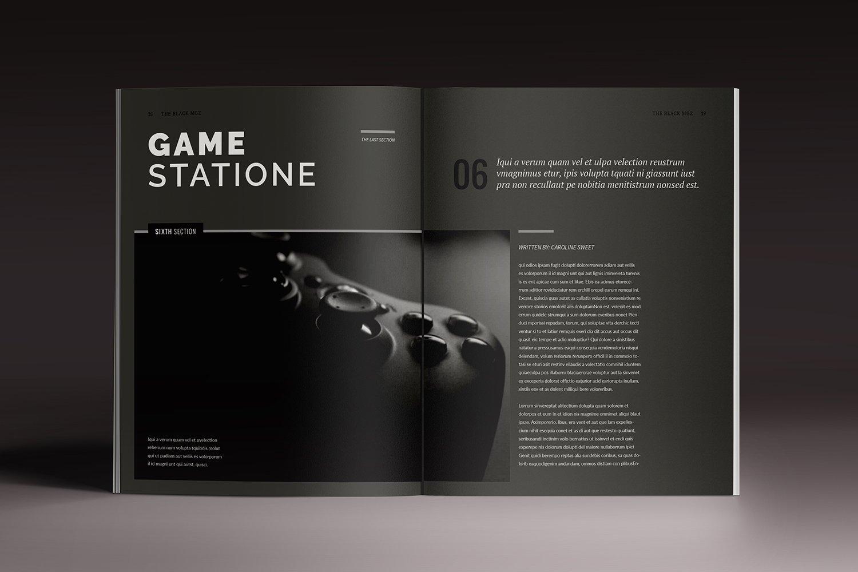 Blackazine Indesign Template ~ Magazine Templates ~ Creative Market