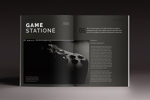 Blackazine Indesign Template
