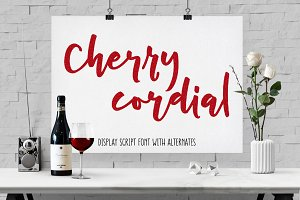 Cherry Cordial: display script font