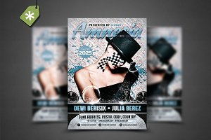 Amnesia Flyer Template