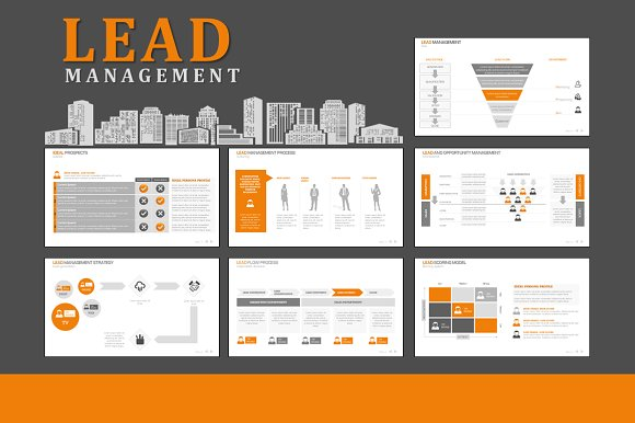 Lead Management Powerpoint Presentation Templates Creative Market