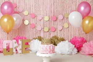 Pink & Gold Birthday