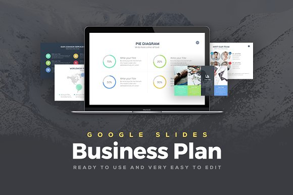 Business Plan Google Slides Template Presentation Templates - Google business plan template