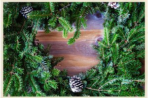 Christmas fir wreath