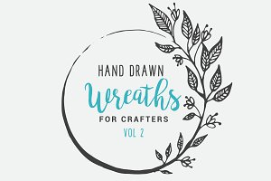 Hand Drawn Wreaths for Crafters Vol2