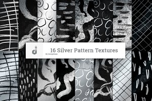 16 Silver Pattern Textures