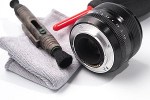Tools for cleaning lens and camera