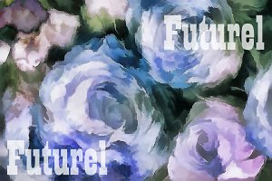 Blue rose. Graphics .