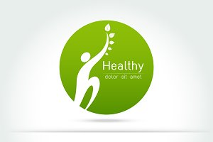 Healthy - vector logo