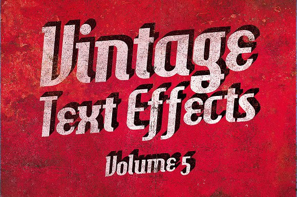 Vintage Text Effects Vol.5 - Add-Ons