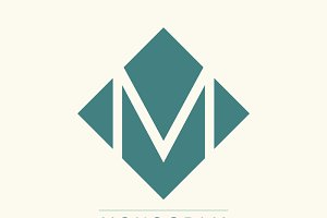 Stylish and graceful monogram design