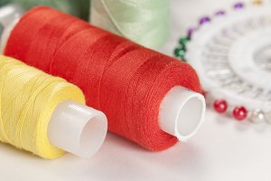 Sewing strings and needles