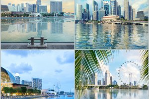Set of central Singapore images