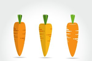Carrot vector icon cartoon style