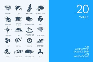 Wind icons