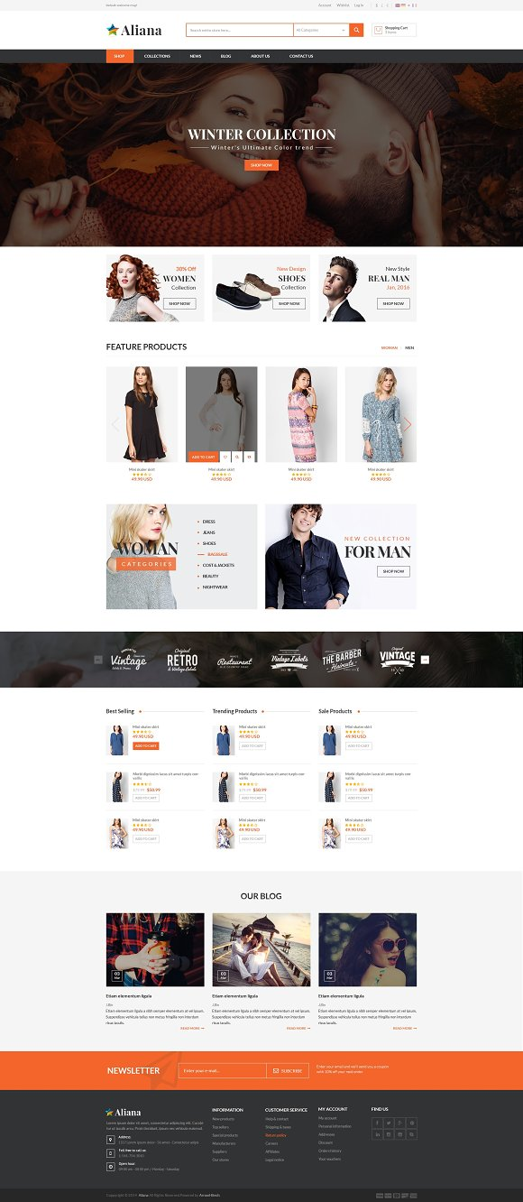 MGS Aliana - M2 multipurpose theme in Magento Themes - product preview 1