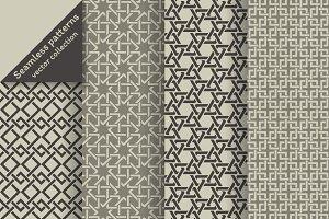 Stylish geometric seamless patterns