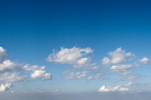 Blue sky panorama.