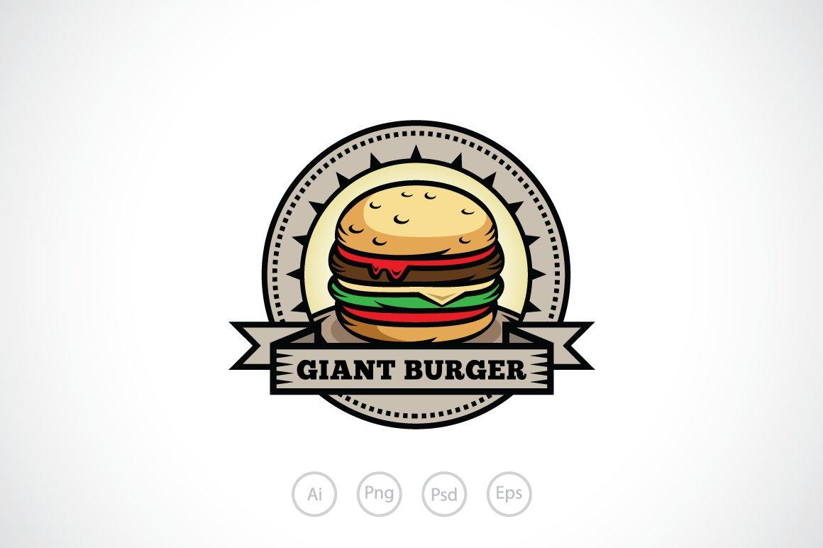 Hot And Tasty Burger Logo Template Logo Templates Creative Market