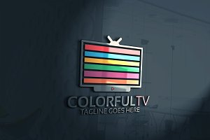 Colorful Tv Logo