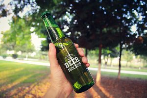 Beer Bottle Label Mock-up#10