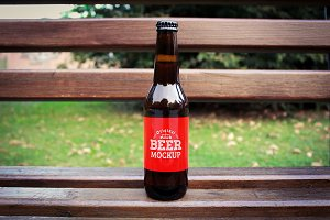 Beer Bottle Label Mock-up#12