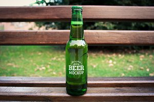 Beer Bottle Label Mock-up#13