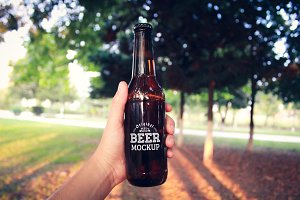 Beer Bottle Label Mock-up#14
