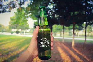 Beer Bottle Label Mock-up#15