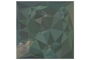 Light Sea Green Abstract Low Polygon