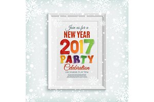 New Year party poster template.