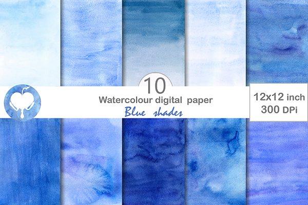 Blue Shades Digital paper