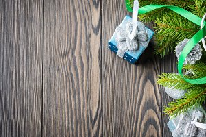 Wooden christmas background