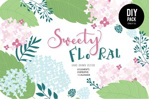 Sweet FLORAL VECTOR DIY PACK