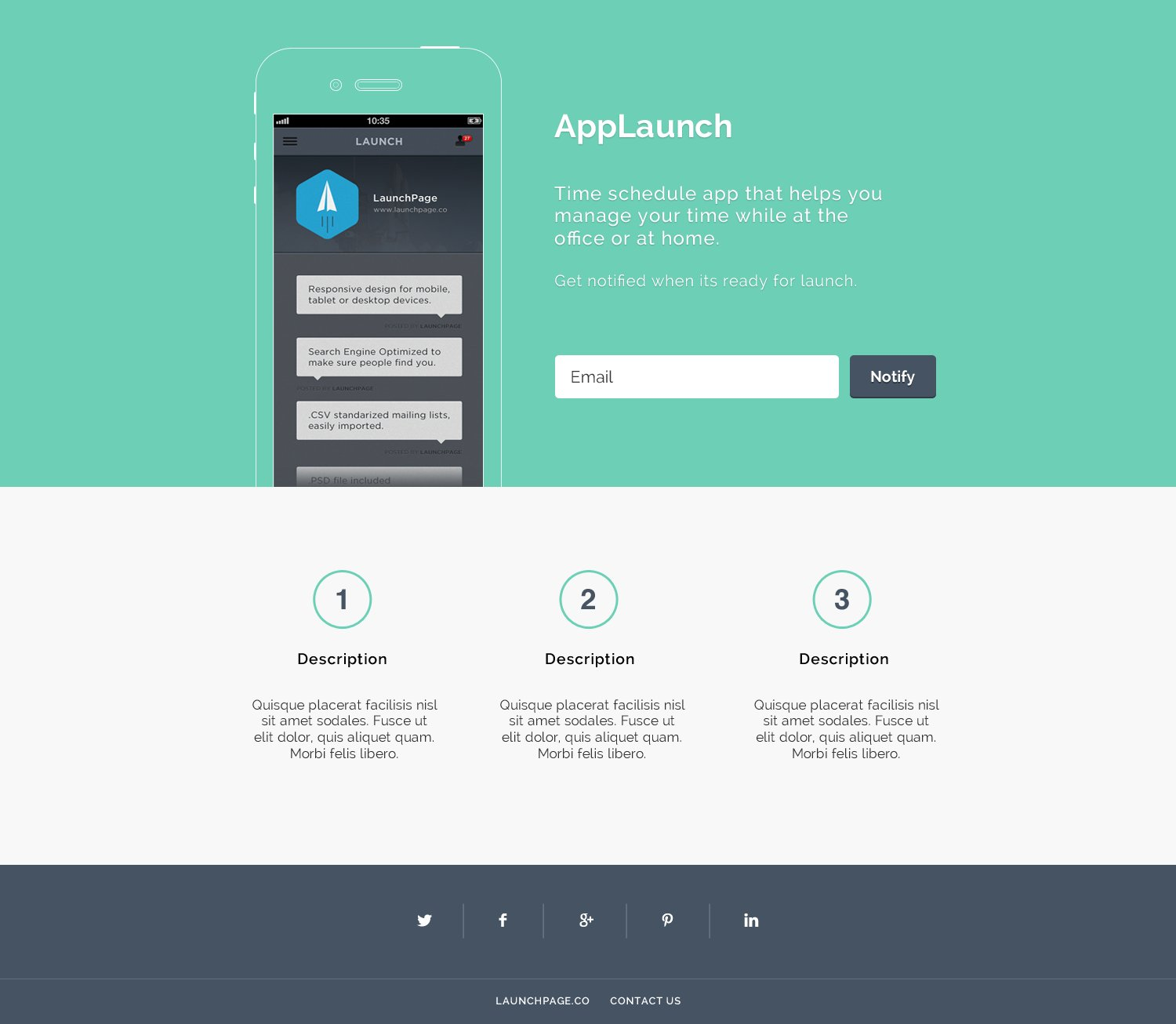 App Launch Bootstrap Themes Creative Market - Launch page template