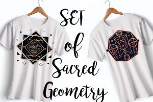 100% Vector Set Of Sacred Geometry