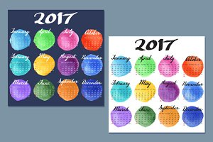 2 Watercolor 2017  Calendars