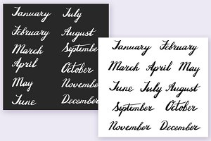 Handwritten months of the year