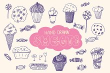 Hand drawn sweets
