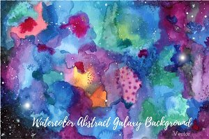 Watercolor abstract Galaxy painting