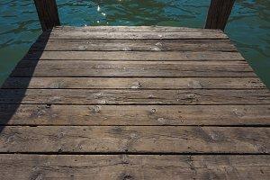 A wooden pier