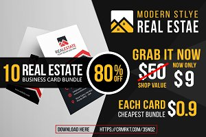 10 Real Estate Card Bundle