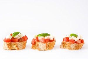 Caprese salad bruschettas
